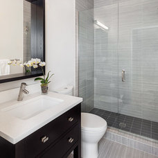 Transitional Bathroom by Model Remodel
