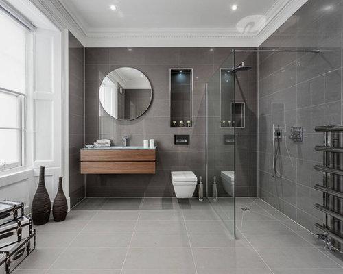 Piano Bagno In Ardesia : Bagno con pavimento in ardesia e piastrelle in pietra foto idee