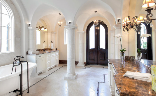 Mediterranean Bathroom by Jerry B Smith Photography