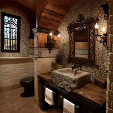 mediterranean bathroom by Est Est, Inc.