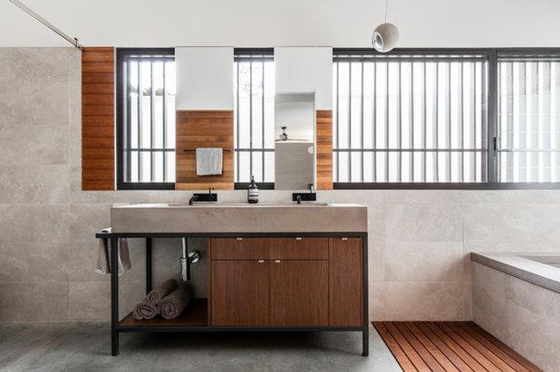 Farmhouse Bathroom by Source Architects