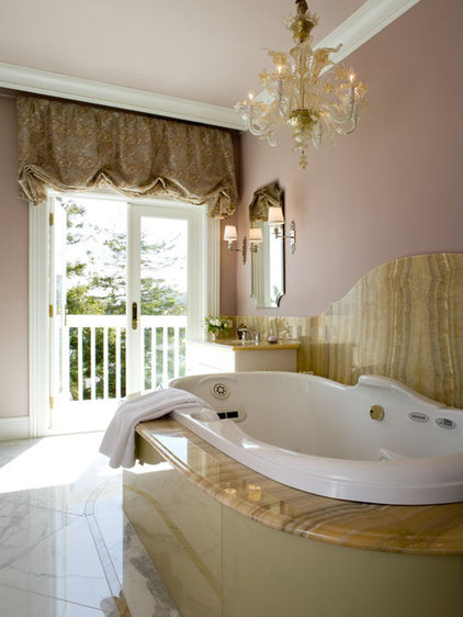 eclectic bathroom by Coddington Design