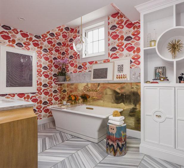 Fancy Contemporary Bathroom by Nest Design Co Inc