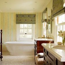 Traditional Bathroom by Christine Markatos Design