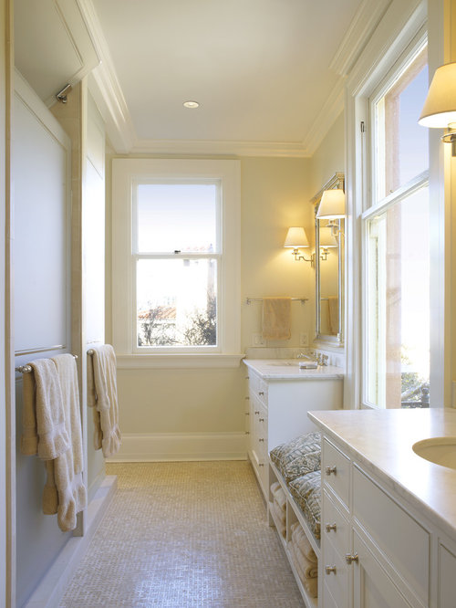 Bathroom seating design ideas remodel pictures houzz for Small yellow bathroom ideas