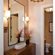Transitional Bathroom by C Wright Design