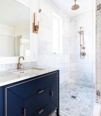 Contemporary Bathroom by G Family, Inc.