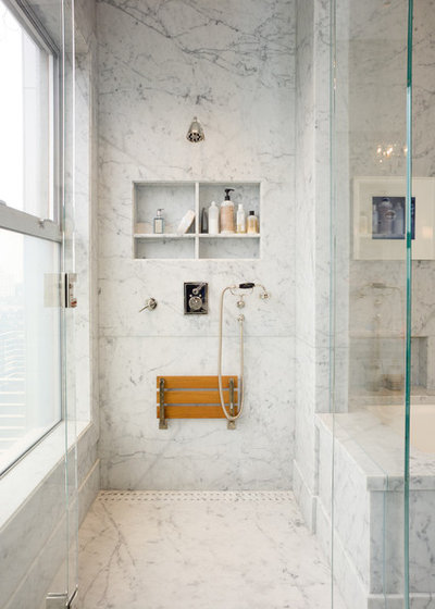 Classique Chic Salle de Bain by New Marble Company Inc.