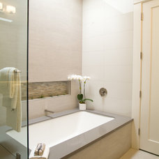 Transitional Bathroom by Carol Gillum, CKD