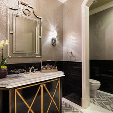 Mediterranean Bathroom by Jennifer Bevan Interiors