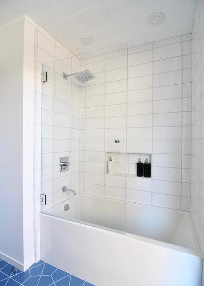 Lovely Midcentury Bathroom by Urbanism Designs