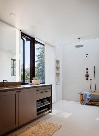Rustic Bathroom by NB Design Group, Inc