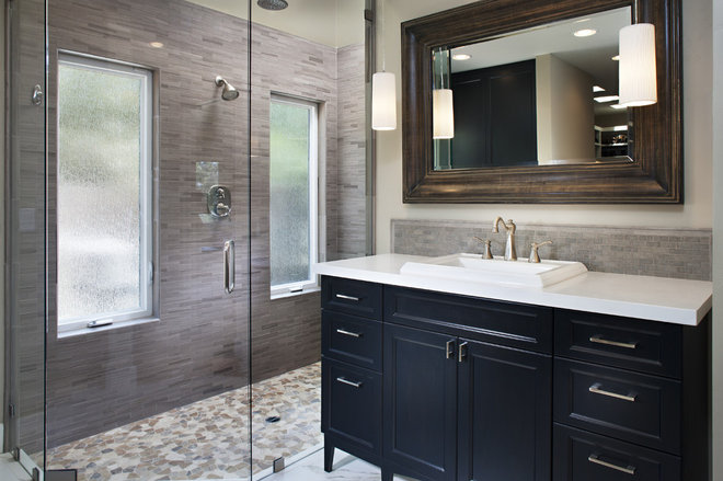 contemporary bathroom by Style On a Shoestring