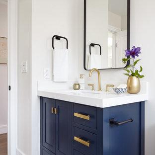 サンフランシスコのトランジショナルスタイルのおしゃれな浴室の写真