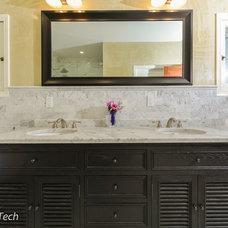 Craftsman Bathroom by Design Tech