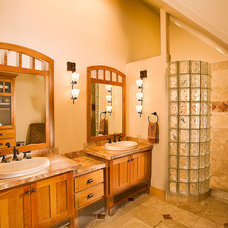 Craftsman Bathroom by High Country Construction of Durango, L.L.C.
