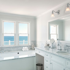 Beach Style Bathroom by Davitt Design Build, Inc.