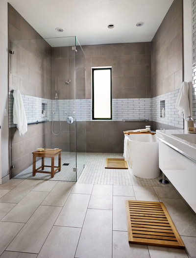 Contemporary Bathroom by Garrison Hullinger Interior Design Inc.