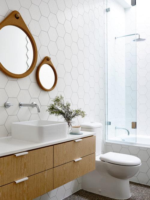 Hex Tile Bathroom Houzz