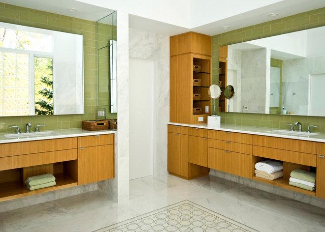 Contemporary Bathroom by Joseph Scarpulla - Architect