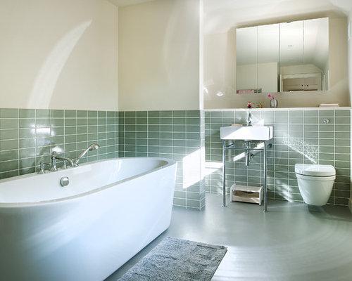 moderne badezimmer mit linoleumboden ideen f r die. Black Bedroom Furniture Sets. Home Design Ideas