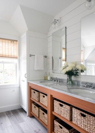 Coastal Bathroom by LDa Architecture & Interiors