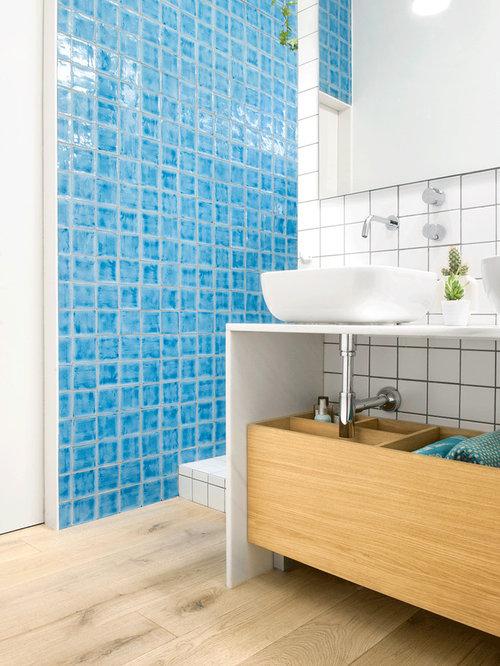 Ideas para cuartos de ba o fotos de cuartos de ba o con baldosas y o azulejos azules - Azulejos azules para bano ...
