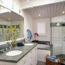 Tropical Bathroom by Giffin & Crane General Contractors, Inc.
