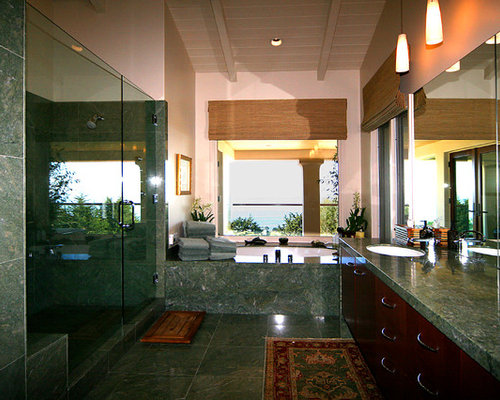 Teal colored stone home design ideas pictures remodel for Bathroom remodel 80123