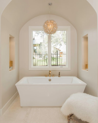 Transitional Bathroom by Arbogast Custom Homes