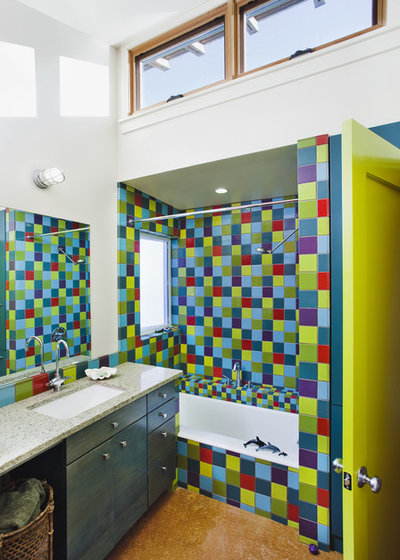 Eclectic Bathroom by Arkin Tilt Architects