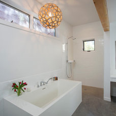 Transitional Bathroom by Palo Santo Designs LLC