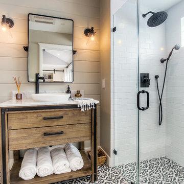 Santa Monica Modern Farmhouse Guest house bathroom