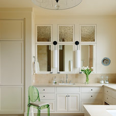 Transitional Bathroom by Jennifer Robin Interiors