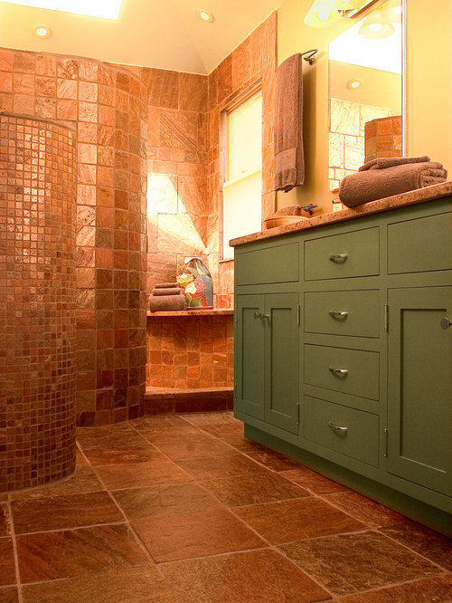 copper tiles bathroom copper slate tile ideas pictures remodel and decor 12517