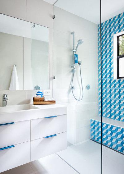 Cool Contemporary Bathroom by CG uS Design Build