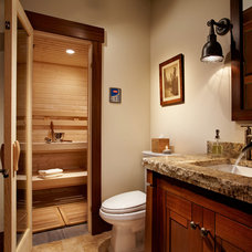 Rustic Bathroom by Rocky Mountain Homes