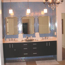 Eclectic Bathroom by Sarah Pryor of Etown Kitchens + Baths