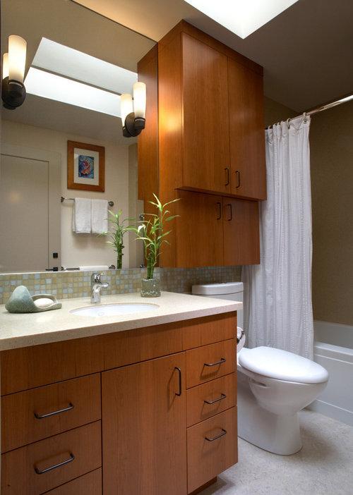 cabinet depth above toilet?