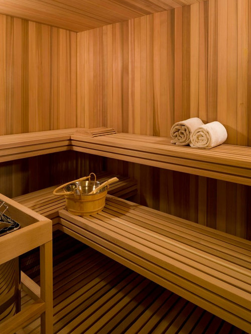 Example Of A Transitional Sauna Design In Denver