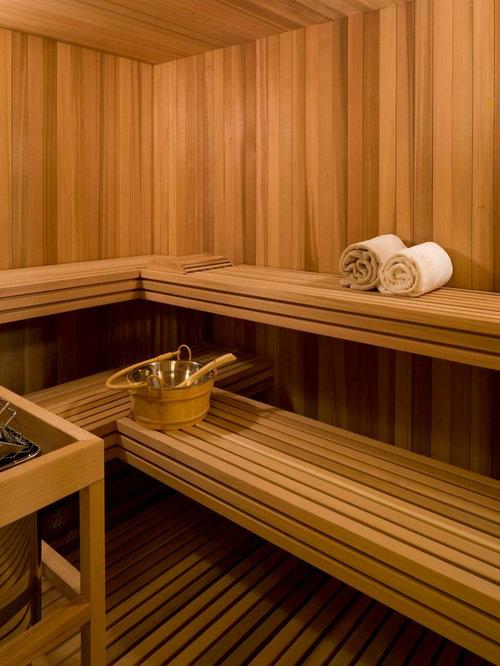 Sauna Design Ideas home private steam sauna room design ideas Example Of A Transitional Sauna Design