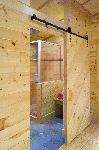 Rustic Bathroom by Design Build Team Inc