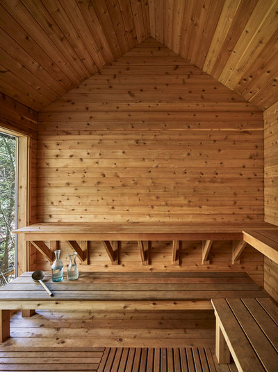 Room Of The Day Finnish Inspired Sauna In The Woods