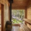 Eine finnische Sauna in den Bergen von New York