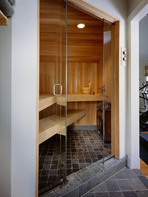 Home Gym With Wet Sauna Houzz