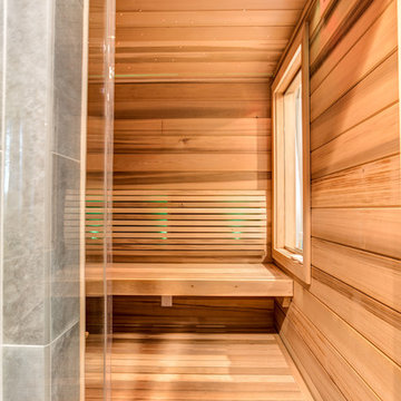 Sauna - With custom benches and backrests