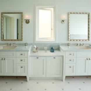 Sausalito, California - Serene Blue and White Master Bathroom
