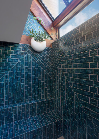Eclectic Bathroom by LOCZIdesign