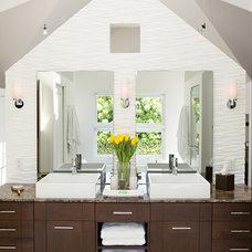 Transitional Bathroom by Rachlin Partners