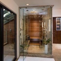 Sauna Shower Custom Tile Material Bathroom Design